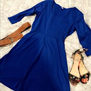 Cobalt blue Old Navy 3/4 sleeve dress